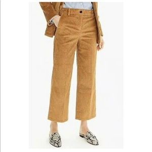 J.Crew - Wide-leg Cropped Pants in Corduroy